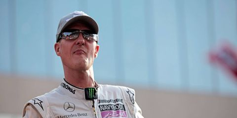 Michael Schumacher has not been seen in public since his skiing accident three years ago.