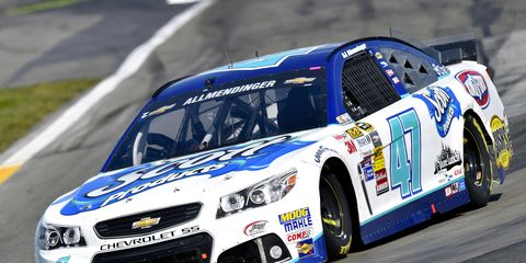 A.J. Allmendinger outran Marcos Ambrose for the win at Watkins Glen and a spot in NASCAR's postseason.