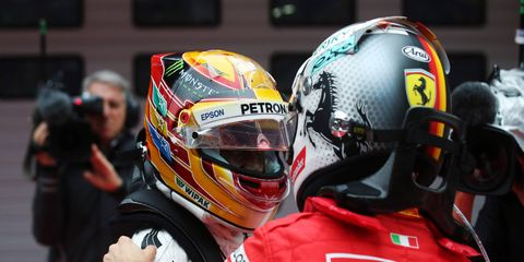 All eyes will be on the battle at the front in Formula 1 -- and that means Lewis Hamilton, left, and Sebastian Vettel, right.