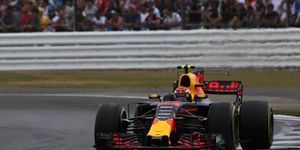 Max Verstappen finished fourth at Silverstone on Sunday.