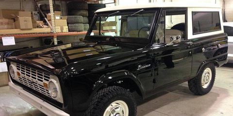Callum's '76 Bronco has at least one feature that's not likely to return in the new model: a three-on-the-tree manual transmission.