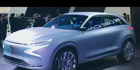 The FE Fuel Cell Concept previews a Hyundai entry