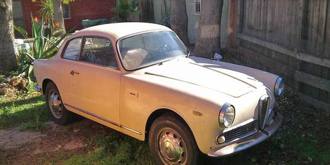 When it comes to project cars, people have done much more with much less than this complete Alfa Romeo Giulia Sprint 1600.