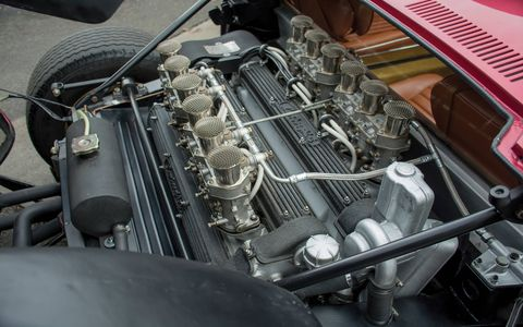 With help from the slightly raised compression, the Jota's engine produced 440 horsepower at 8,000 rpm.