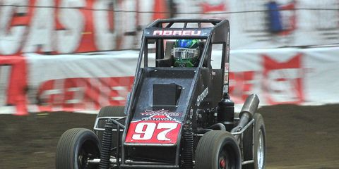 Rico Abreu races to the win at the Chili Bowl Nationals on Saturday night in Tulsa, Okla.
