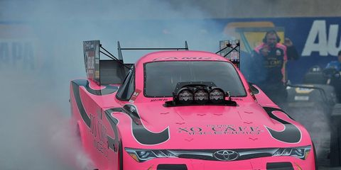 Alexis DeJoria's Toyota Camry at Maple Grove Raceway