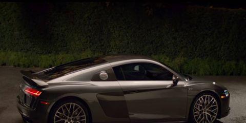 Audi's Super Bowl commercial features its 205-mph 2017 Audi R8 V10.