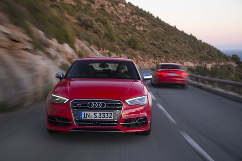 The 2015 Audi S3 receives an EPA-estimated 26 mpg combined fuel economy.