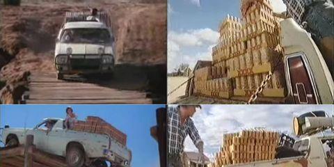 Motor vehicle, Wheel, Mode of transport, Automotive design, Transport, Brown, Vehicle, Yellow, Land vehicle, Automotive tire,