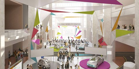 The AutoMobili-D expo will take place in the Cobo atrium.