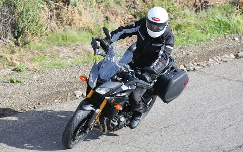 The Yamaha FJ-09 competes in the sport touring category.