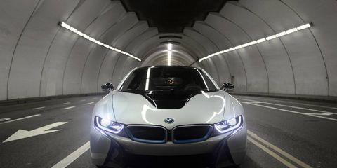 Coming soon: The four-door BMW i5 could join the i3 and the i8 (shown above) as early as 2018.