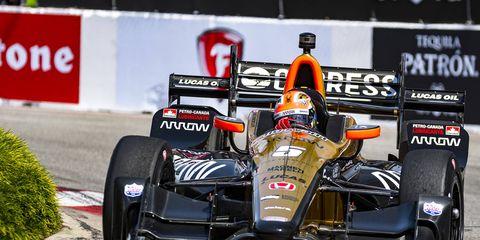 James Hinchcliffe scored his fifth career Verizon IndyCar Series win Sunday.