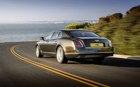 "Pricing? It's definitely an ""if you have to ask..."" proposition. The non-Speed Mulsanne starts at just under $300,000."