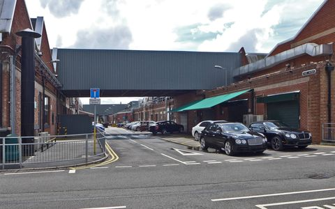 Can a factory be quaint? Because Bentley's Crewe facility is quaint.