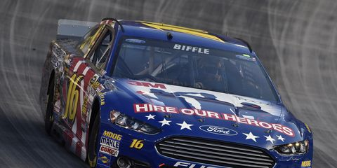 Greg Biffle has a 26-point lead over Kyle Larson for the 16th and final NASCAR Chase spot.
