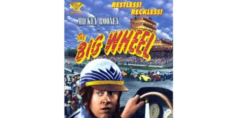"""Actor Mickey Rooney stared in the 1949 movie """"The Big Wheel,"""" which featured the Indy 500."""
