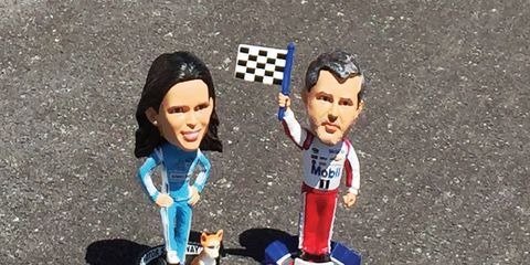 Danica Patrick, left, and, uh, Tony Stewart, right, are going into the Hall of Fame.