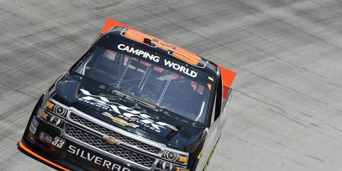Brandon Jones has raced in four NASCAR Camping World Truck Series races this year. His best finish was fourth at Dover.
