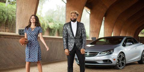 Buick's 2016 Super Bowl commercial featured Odell Beckham Jr. and model Emily Ratajkowski.
