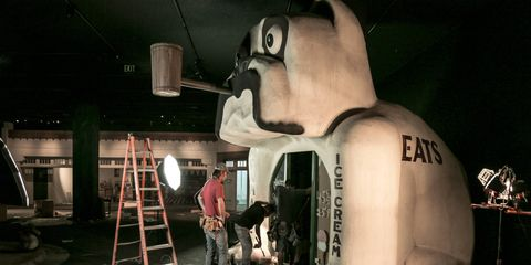 The Bulldog Cafe's final hours in the Petersen Museum.