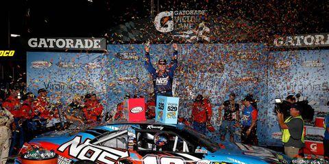 Kyle Busch won Friday night's NASCAR Xfinity race at Richmond.