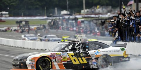 The numbers said that Chris Buescher was likely to run out of gas before the finish line in Mid-Ohio, but Buescher pulled off the surprise win anyway on Saturday.