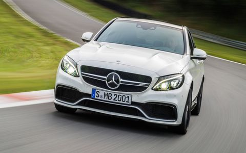 C63 sedan has taken a significant step forward in terms of straight line speed -- its 0-62 mph time undercuts its predecessor by 0.4 second at just 4.1 seconds.