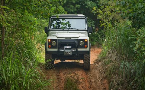 Land Rover will let you try that Defender you've always wanted on some off-road courses, and you don't even have to fly to the U.K.
