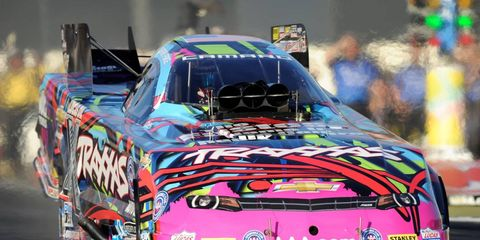 Courtney Force on Saturday replaced her legendary racing father atop the all-time speed chart in the NHRA Funny Car division.