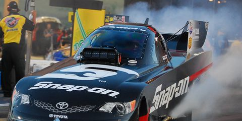 Cruz Pedregon won the top seed in NHRA Funny Car qualifying on Saturday at the Gatornationals. It's the fourth year in a row he's nabbed the top spot.