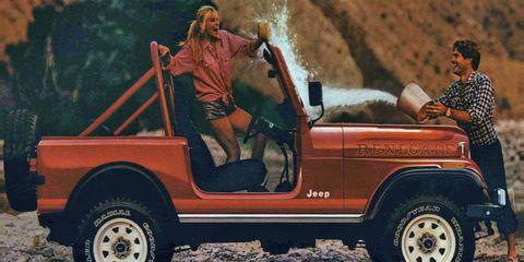 Average values for the venerable Jeep CJ-7 were down 32 percent last year.