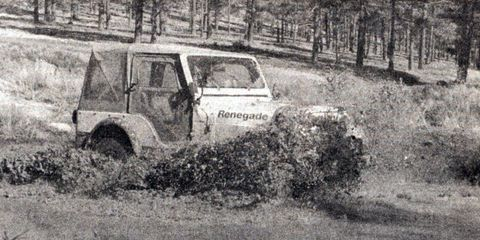 'The badge of the offroad 4x4 is mud, caked on everywhere.'