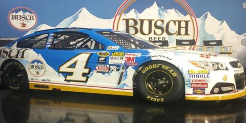 On Thursday, Kevin Harvick unveiled two Busch-sponsored cars that he will race next season.
