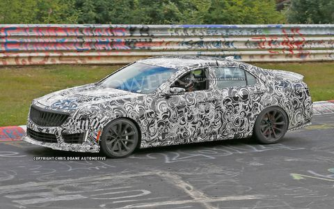 The CTS-V is rumored to have a supercharged 6.2-liter V8 under its hood.