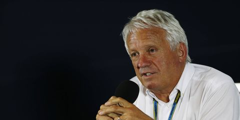 FIA race director Charlie Whiting addressed the media in Singapore on Friday.