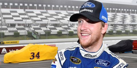 Chris Buescher's first career NASCAR Sprint Cup Series win comes in his 27th career start.