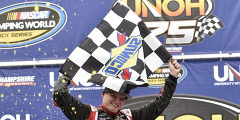Cole Custer found his way into the NASCAR record book on Saturday at New Hampshire Motor Speedway.