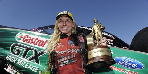 Courtney Force's victory at Sonoma Raceway made her the winningest woman in NHRA Funny Car history.