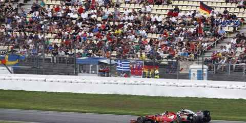 There were plenty of empty seats at Hockenheim for the Formula One German Grand Prix on Sunday.
