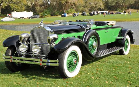 This 1929 Packard 645 Roadster won a first place award from the Classic Car Club of America.
