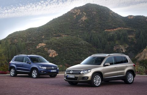 An estimated price for the 2014 Volkswagen Tiguan Bluemotion TDI Euro Spec is $27,500.