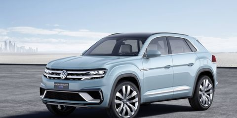 The 2015 Volkswagen Cross Coupe GTE concept previews an upcoming seven-seat SUV which will be built in the U.S.