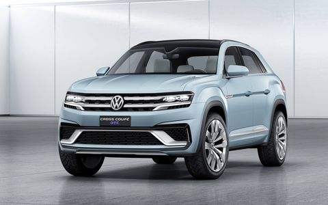 The 2015 Volkswagen Cross Coupe GTE concept is a representation of an all-new design direction for Volkswagen.