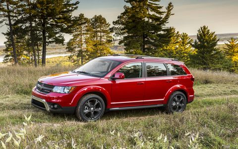 The 2014 Dodge Journey Crossroad cruising off-road.
