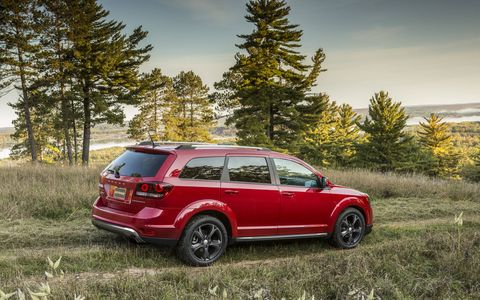 The 2014 Dodge Journey Crossroad is a good looker in the mostly bland crossover field.