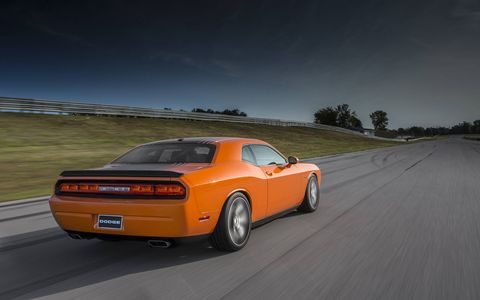 The 2014 Dodge Challenger R/T Shaker couldn't be visually louder.