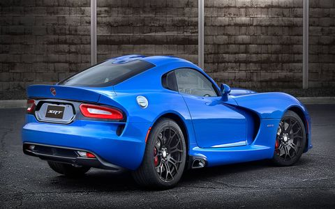 The 2015 Dodge Viper SRT has a base, GT and GTS trims.