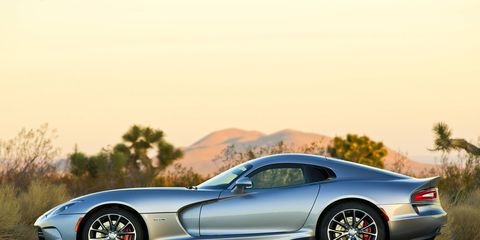 The Viper's massive 8.4-liter V10 makes 645 hp and 640 lb-ft of torque only when paired with a six-speed Tremec manual transmission.