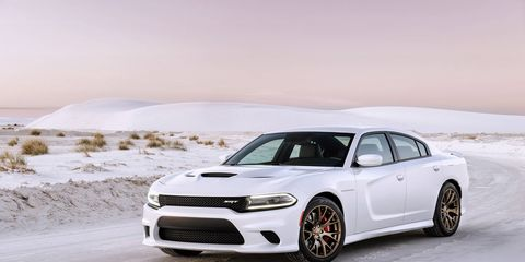 The 2015 Dodge Charger SRT Hellcat gets 707 hp.